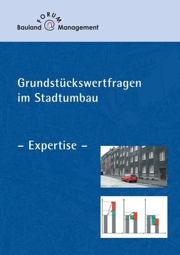 Grundstückswertfragen im Stadtumbau - Forum Baulandmanagement