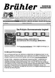 Amtsblatt KW05 2007 - Gemeinde Brühl