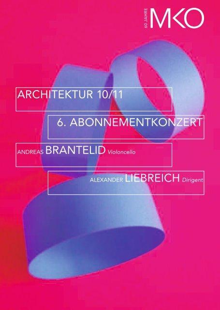 6. ABONNEMENTKONZERT ARCHITEKTUR 10/11 - Münchener ...