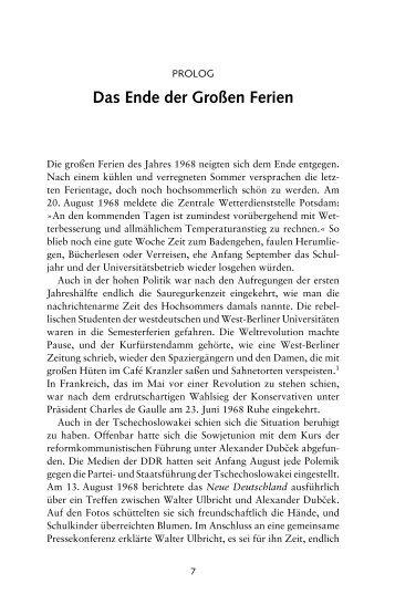 Das Ende der Großen Ferien - Ch. Links Verlag