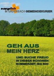 Pitter Press - Evangelisch in Urdenbach