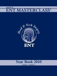 Journal 2010 - ENT MASTERCLASS