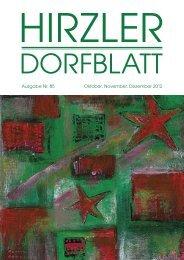 Dorfblatt 85 - Gemeinde Hirzel