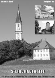 Kirchablättle 2012 - KirchenNews