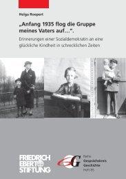 Anfang 1935 flog die Gruppe meines Vaters auf… - SPD Hamburg