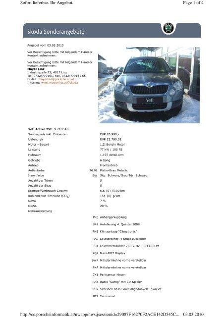 Page 1 of 4 Sofort lieferbar. Ihr Angebot. 03.03.2010 http://cc ...