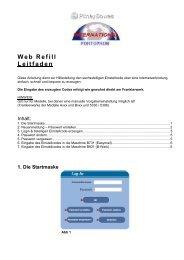 Web Refill Leitfaden - Pitney Bowes