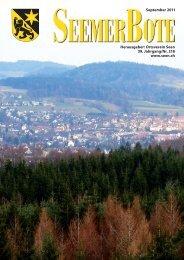 2 Seemer Bote 9-2011 - Der Ortsverein Seen
