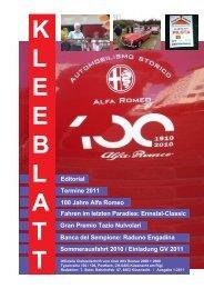 Kleeblatt 1-2011 - Alfa Romeo Club Küssnacht am Rigi