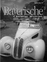 S! - der Bayerische - National Capital Chapter, BMW CCA