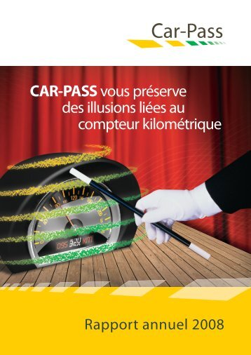 Kilométrages enregistrés, compteur certi é - Car-Pass