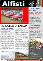 AEROCLUB OPEN DAY - Alfa Romeo Owners Club