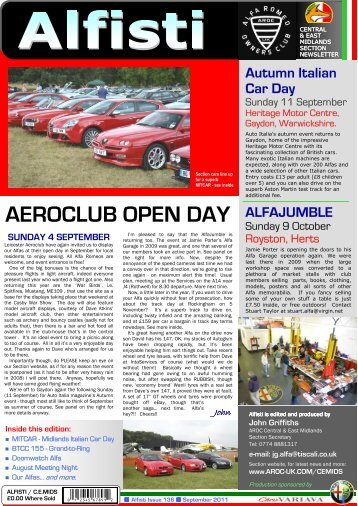 AEROCLUB OPEN DAY - Alfa Romeo Owners Club