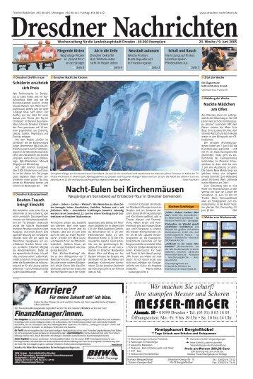 Nacht-Eulen bei Kirchenmäusen - Dresdner Akzente