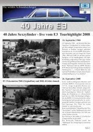 40 Jahre Sexzylinder - BMW E3-Limousinen Club e.V.