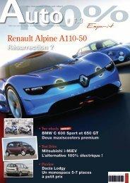 Renault Alpine A110-50 - Magazine 100% esprit auto