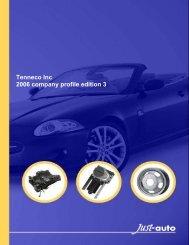 Tenneco Inc 2006 company profile edition 3 - Just-Auto.com