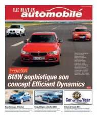 BMW sophistique son concept Efficient Dynamics BMW sophistique ...