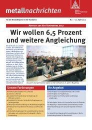 das aktuelle Flugblatt - IG Metall Bezirk Berlin-Brandenburg-Sachsen