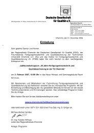Einladung Deutsche Gesellschaft für Qualität e.V. Deutsche ... - DGQ