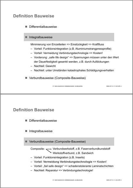 Definition Bauweise D
