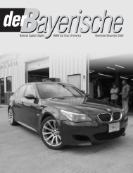 National Capital Chapter BMW Car Club of America - der Bayerische