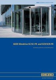 GEZE Slimdrive SC/SC-FR and SCR/SCR-FR
