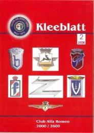 Clubzeitschrift des deutschen - Alfa Romeo Club Küssnacht am Rigi