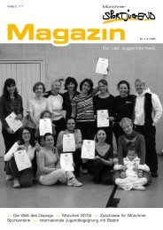 März 11 Magazin - Münchner Sportjugend
