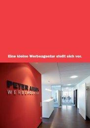 Eine kleine Werbeagentur stellt sich vor. - Peter Arndt Werbeagentur