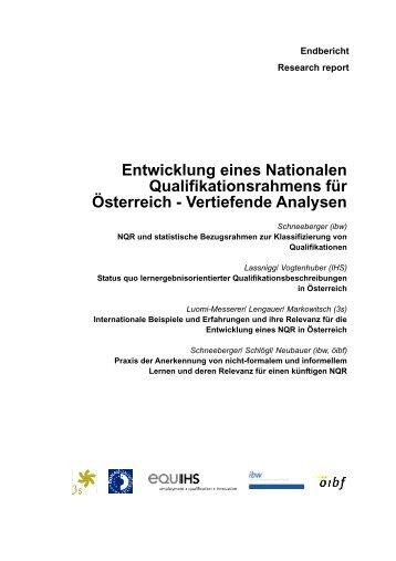 Entwicklung eines Nationalen Qualifikationsrahmens für Österreich ...