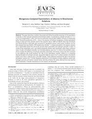 Manganese-Catalyzed Epoxidations of Alkenes in Bicarbonate ...