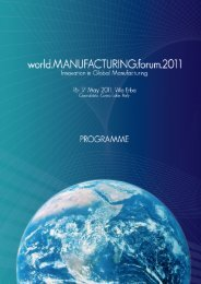 world.MANUFACTURING.forum - Intelligent Manufacturing Systems