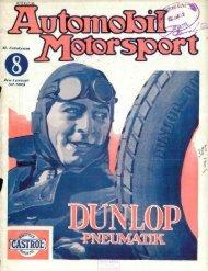Automobil motorsport 1927 2. évfolyam 8. szám - EPA