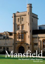 MAN-10265 MAGAZINE.indd - Mansfield College - University of Oxford