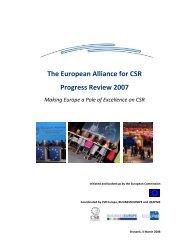 The European Alliance for CSR Progress Review 2007 - CSR Europe