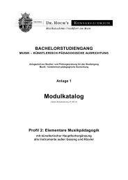 Profil 2: Elementare Musikpädagogik - Dr. Hoch's Konservatorium