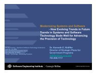 How Evolving Trends in Systems and Software Engineering - SSTC