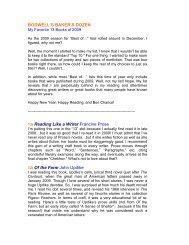 Bodwell's Dozen: My Favorite 12 Books of 2009 - Joshua Bodwell