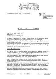 Huma Info August 2008 - Stiftisches Humanistisches Gymnasium