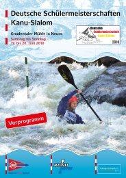 Deutsche Schülermeisterschaften Kanu-Slalom - Kanustrecke Erft