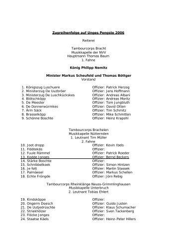 Zugreihenfolge auf Unges Pengste 2006 Reiterei ... - Fuule Rämmel
