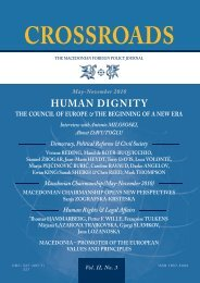C R O S S R O A D S HUMAN DIGNITY the COunCil Of euROpe ...