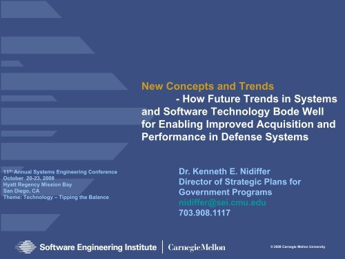 Download Presentation - Software Engineering Institute - Carnegie ...