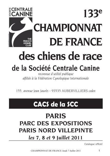Cat Championnat Jeudi 2011indd Société Centrale Canine