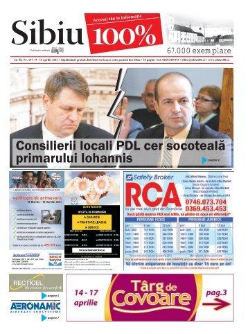 Consilierii locali PDL cer socoteală primarului Iohannis - Sibiu 100