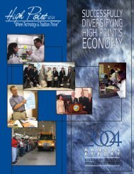 HPEDC 2004 Annual Report - City of High Point