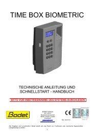 bitte vor inbetriebnahme des systems durchlesen - Borsari + Meier AG