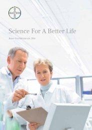 Science For A better Life - bayer-Geschäftsbericht 2006 - EquityStory