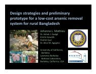 Design strategies and preliminary prototype for a low‐cost arsenic ...